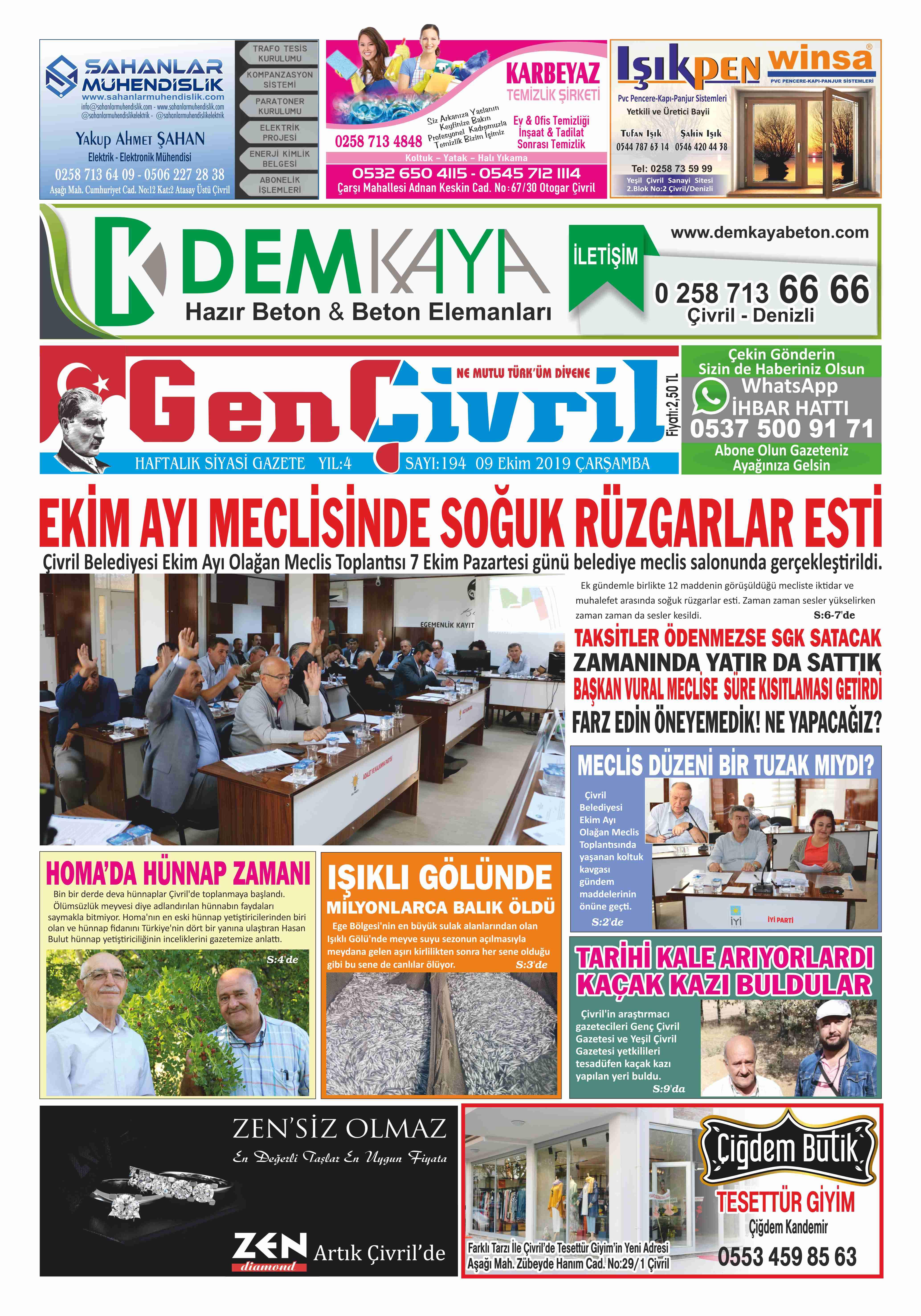 Genç Çivril Gazetesi 194. Sayı