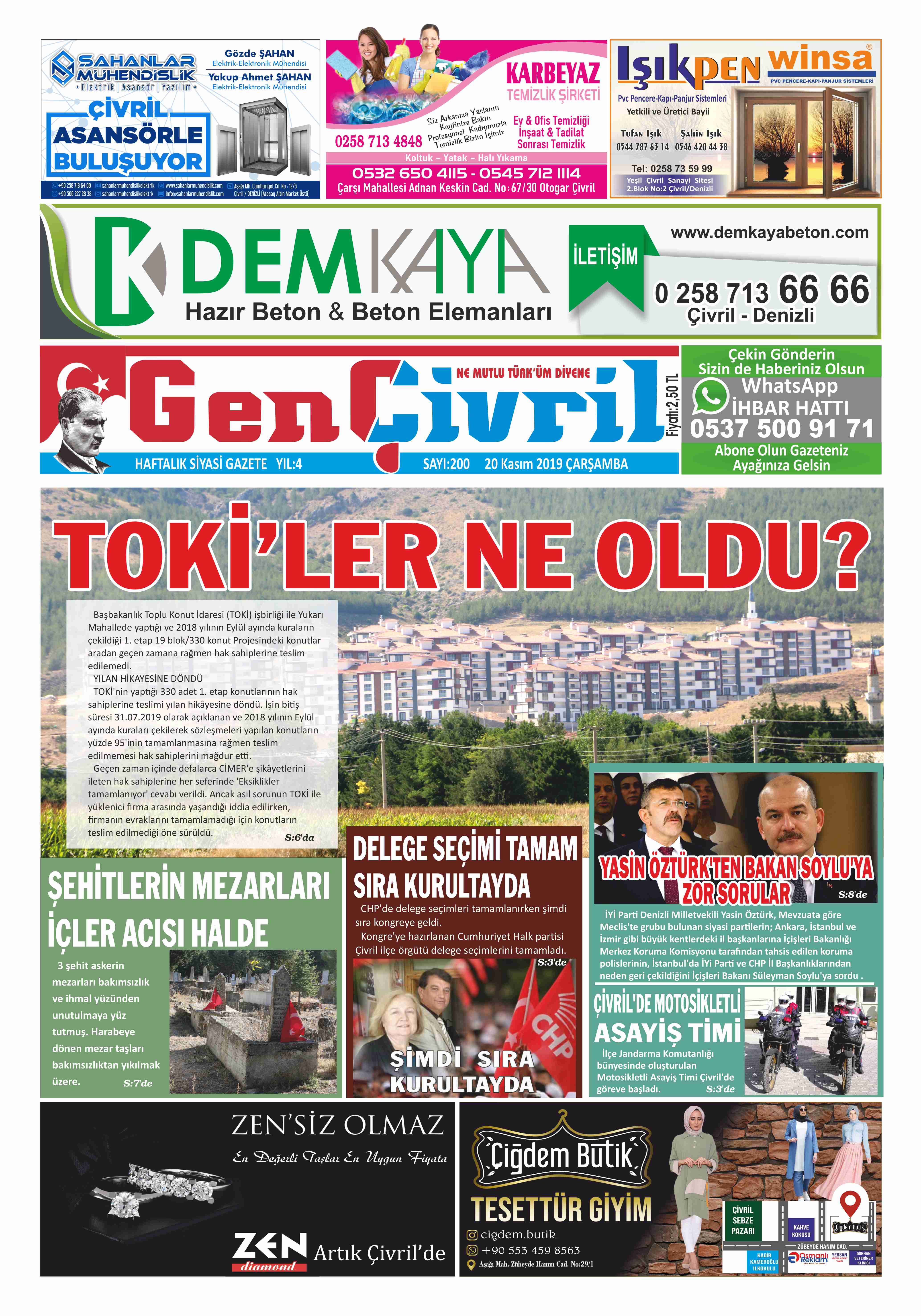 Genç Çivril Gazetesi 200. Sayı
