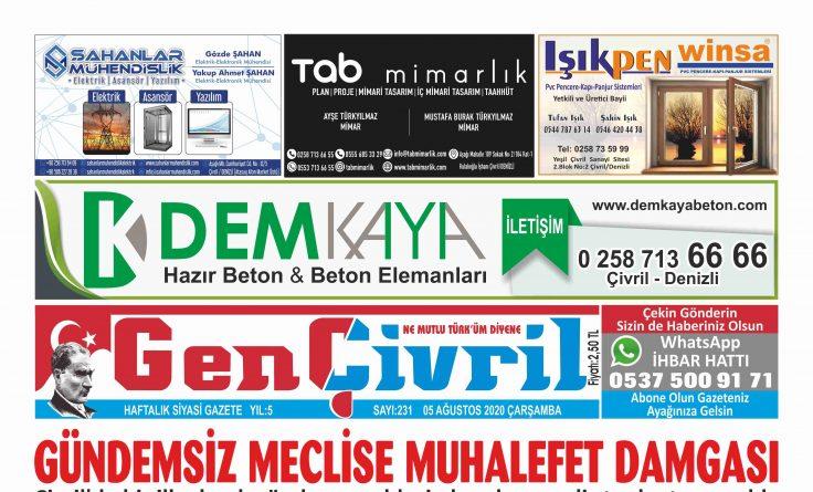 Genç Çivril Gazetesi 231. Sayı