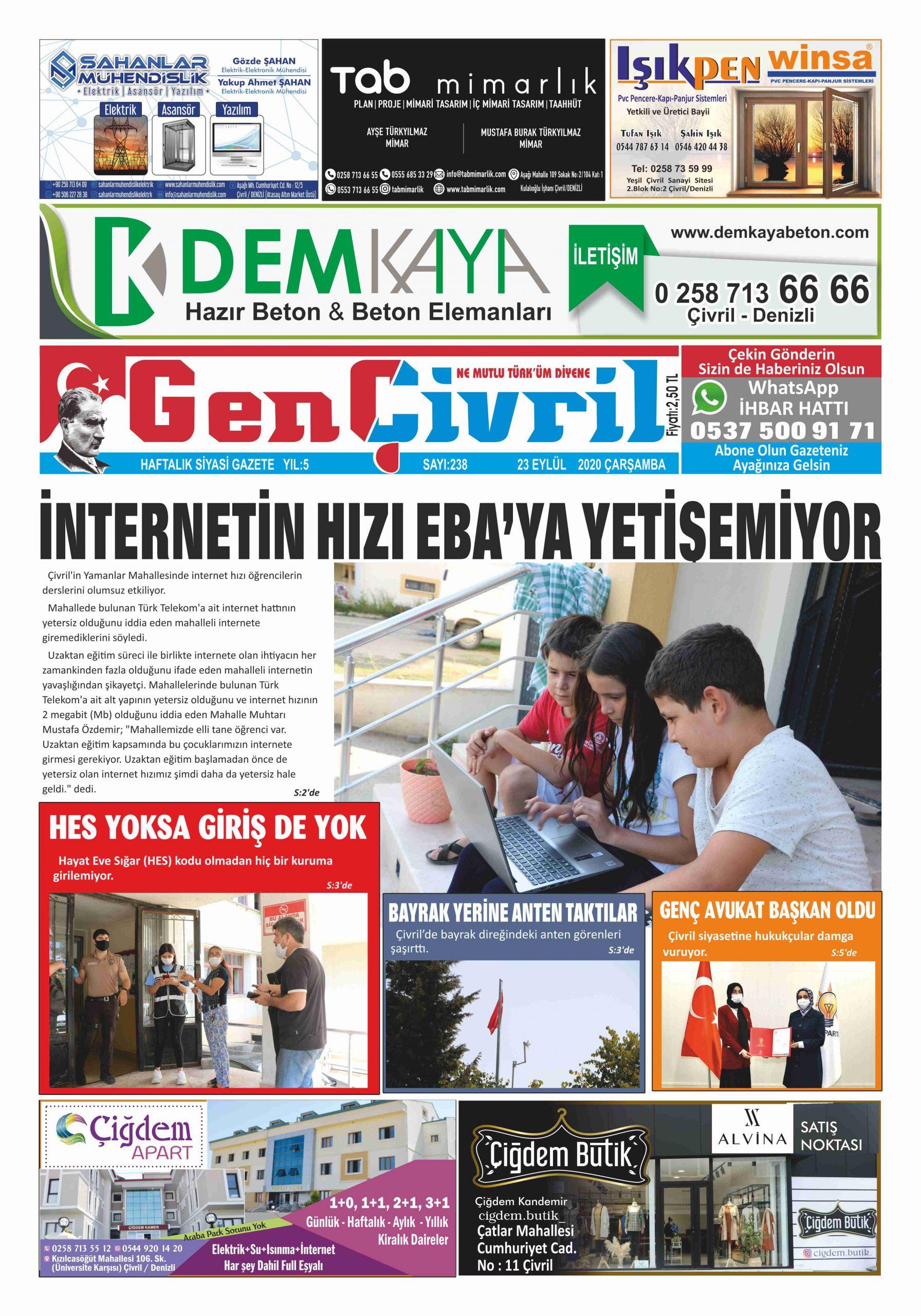 Genç Çivril Gazetesi 238. Sayı