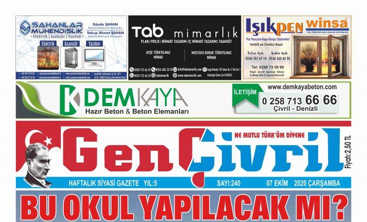 Genç Çivril Gazetesi 240. Sayı