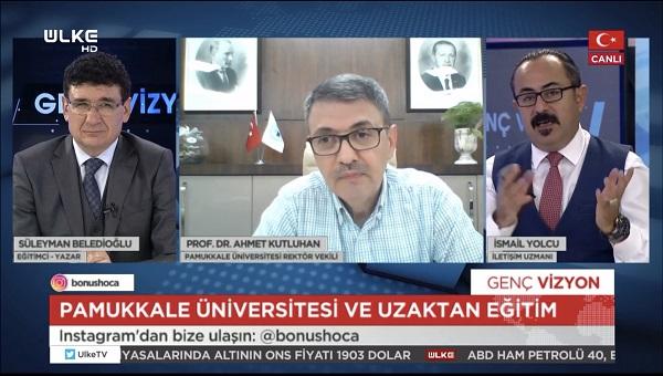 """Rektör Vekili Kutluhan, Ülke TV'de Yayımlanan """"Genç Vizyon"""" Programına Konuk Oldu"""
