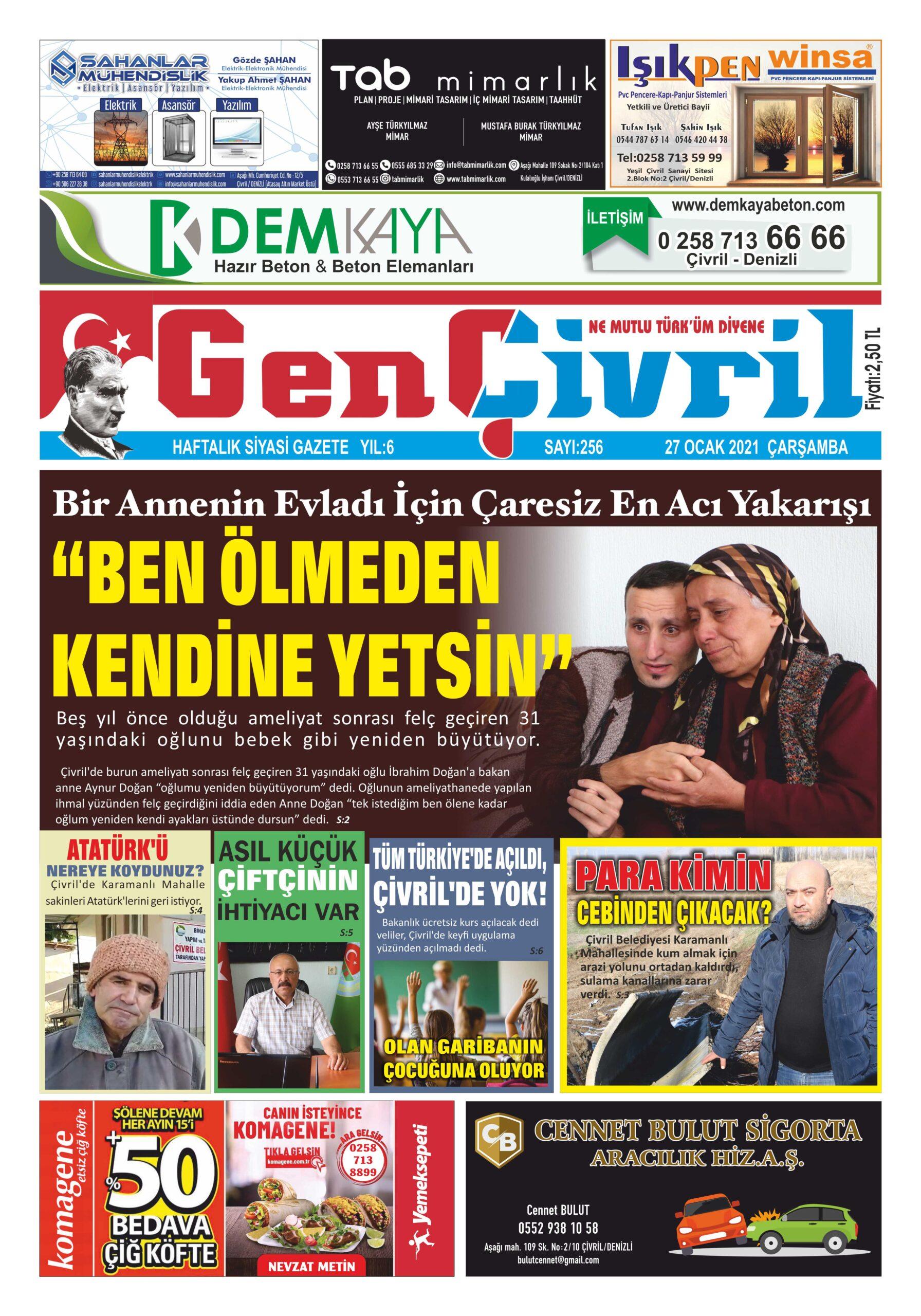 Genç Çivril Gazetesi 256.Sayı