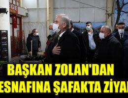 BAŞKAN ZOLAN'DAN HAL ESNAFINA ŞAFAKTA ZİYARET