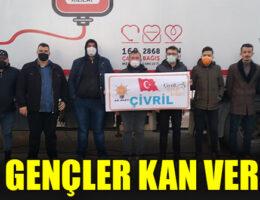 Çivril Ak Parti Gençlik Kolları üyeleri kan verdi